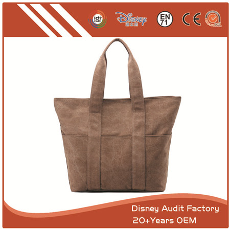 Leather Bags for Women, Big Capacity, Wide Strap, Brown