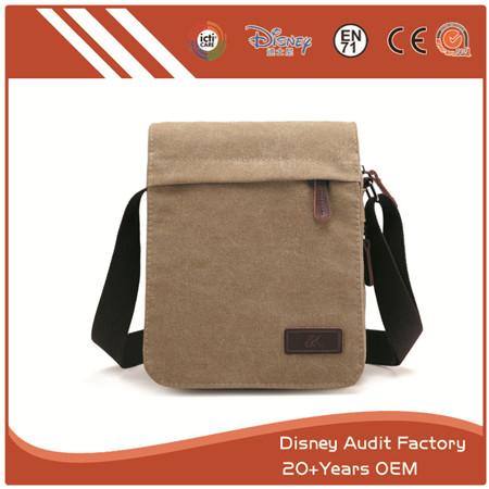 Men's Shoulder Bags, Canvas, Rectangle, Adjustable Strap, Durable