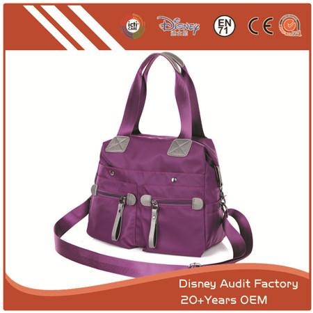 Purple Polyester Shoulder Bag, Custom Design, 45 * 35CM