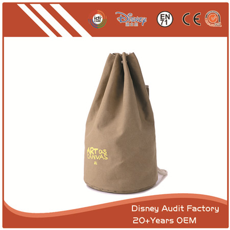 String Bag, Cylindric, Canvas, Heavy Duty, Good for Grocery