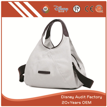 Versatile Purse, with Shoulder Strap, Big Capacity, White & Brown