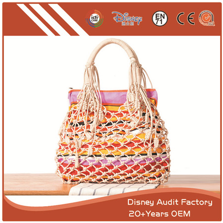 Woven Handbags with Stylish Design, Made of Straw