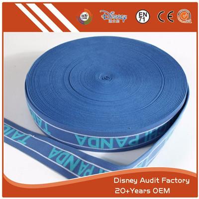Polyester Jacquard Elastic Tape 100% Polyester Silkscreen Print
