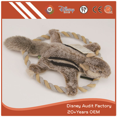 Plush Frisbee Toys Bite Resistant Fashion Embroidery Designs