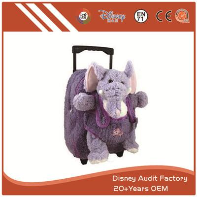 Plush Elephant Backpack Purple Color Super Comfortable