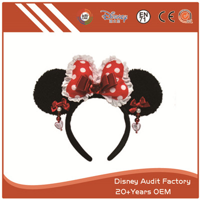 Plush Disney Minnie Mouse Headband 100% PP Cotton
