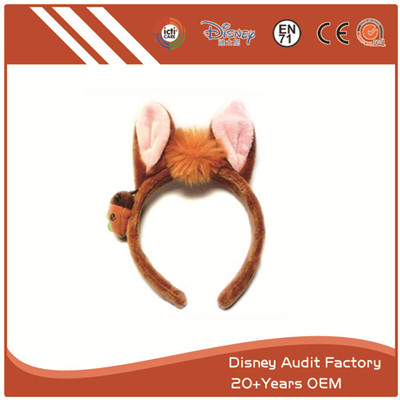 Plush Fox Ears Animal Hair Band Custom Color 100% PP Cotton
