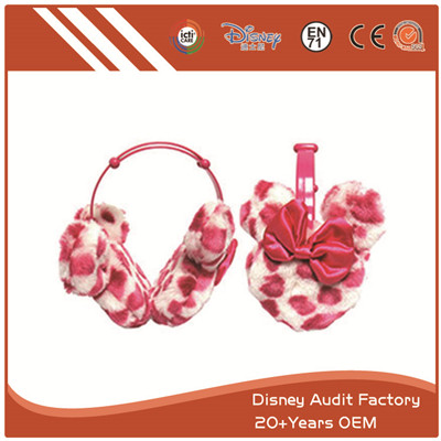 Short Floss Pink Earmuffs 100% PP Cotton