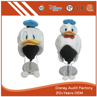 Donald Duck Plush Hat Kids Novelty Hats Blue White