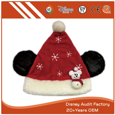 Plush Christmas Winter Wear Hat Unisex Red Color
