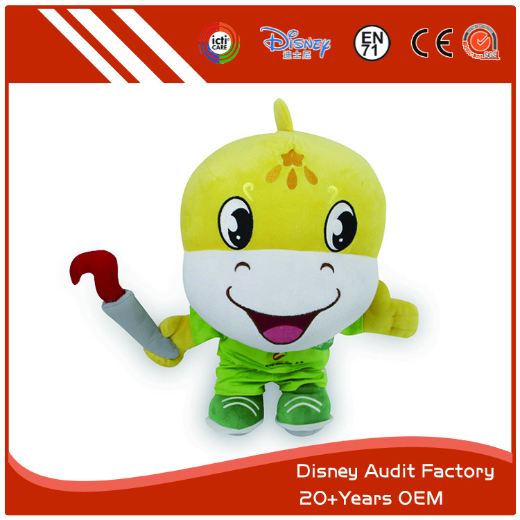 Cute Plush Toys for Children, Comfortable Fabric, Printing