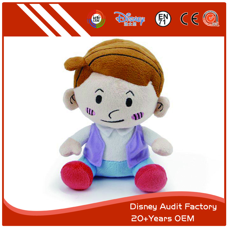 Stuffed Kawaii Little Girl Plush Toy, Soft Toy, Printing Patterns