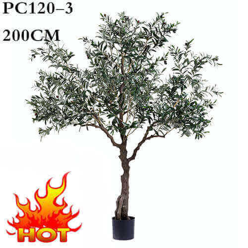 """LARGE 42/"""" Chinese SILK BAMBOO Realistic Fake Artificial TREE ~ w// REAL TRUNK"""