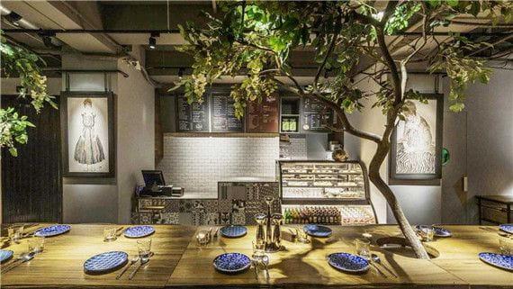 artificial plant for restaurant decoration