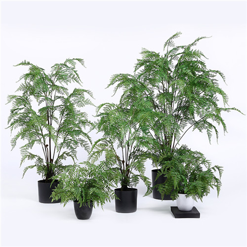 Artificial Indoor Ferns with Multi Stems, Plastic or Silk Material