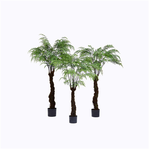 Faux Fern Palm Tree, Made of Plastic or Silk Material