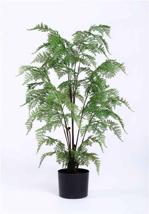 Silk Fern Plants, Multi Stems, 90CM, Plastic Base, UV Resistance