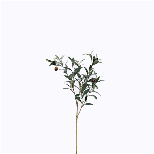 Artificial Olive Foliage, Single Branch With Fruit, 70CM