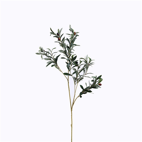 Faux Olive Branches With Fruit, 105CM