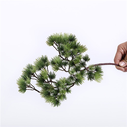 Faux Pine Branch, Plastic And Silk Material, 35CM