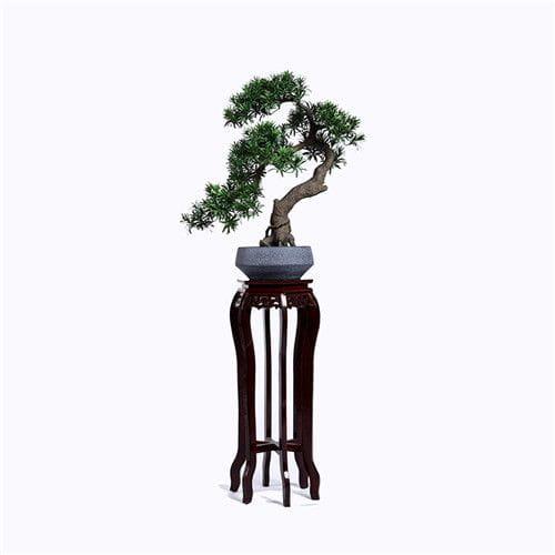 Artificial Leaning Podocarpus Bonsai