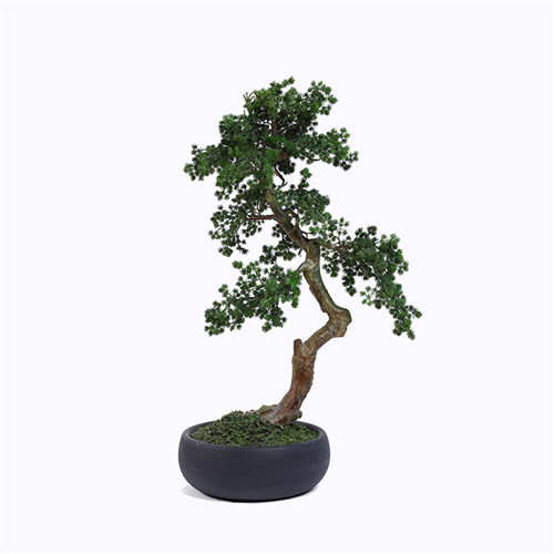 Plastic Pine Tree Bonsai, Realistic Trunk, 100CM
