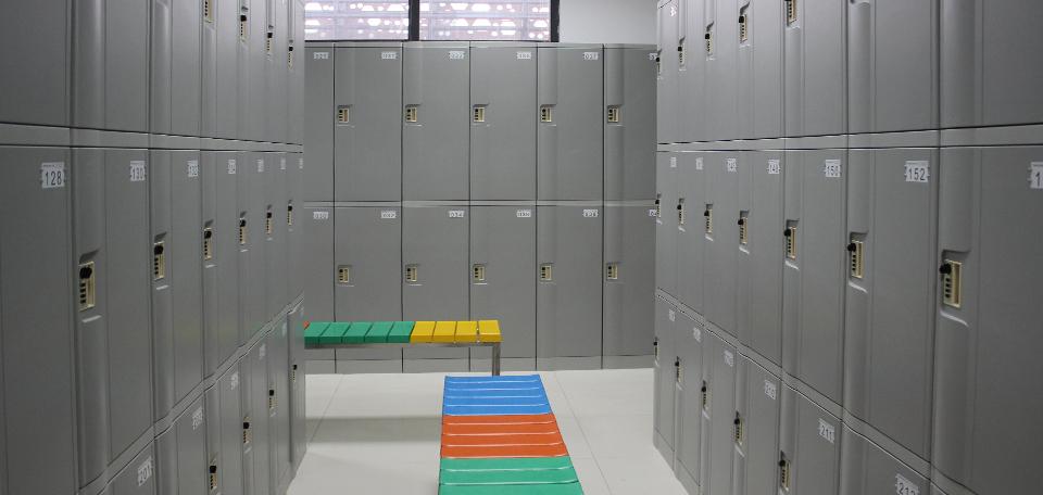ABS locker T-382L used as locker room lockers for employees/staff/workers