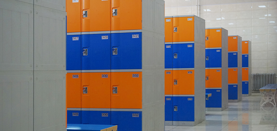 ABS plastic locker T-382S used as changing room locker eco-friendly and non-toxic