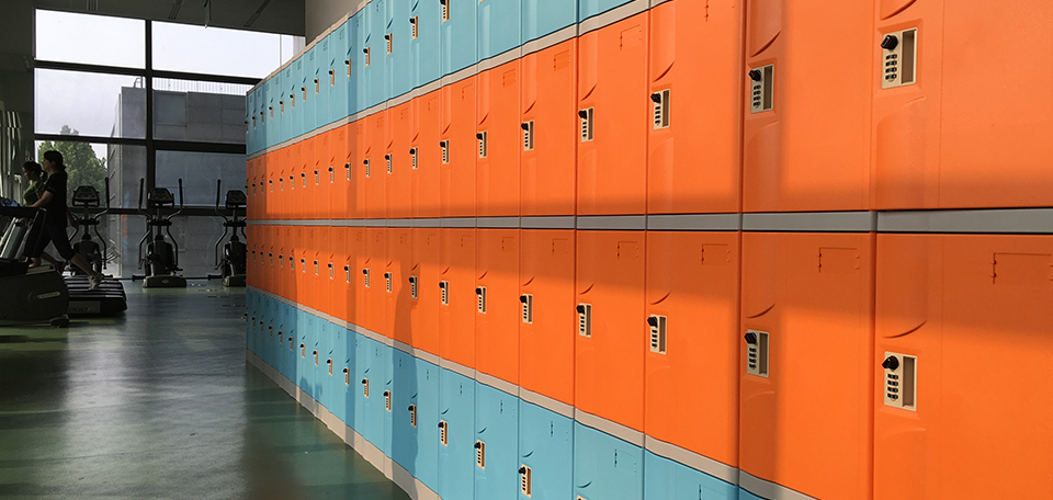 T-320S-50 used as fitness room lockers?with symmetrical arc-shaped door