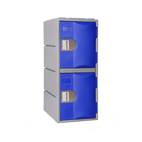 Heavy Duty Plastic Locker T-H385L/2: HD, Strong HDPE, 2 or 4 Doors