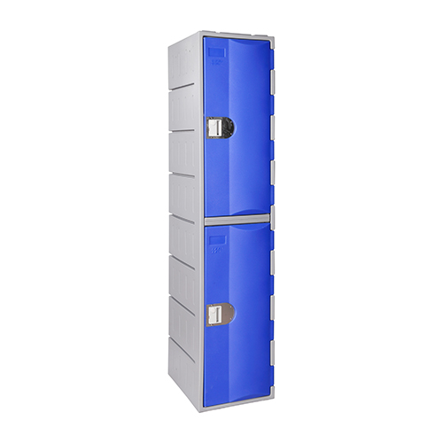 Heavy Duty Plastic Locker T-H385XXL/2: HD, HDPE, 2-Door/Double-Tier