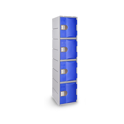Heavy Duty Plastic Locker T-H385XXL/4: HD, strong HDPE, 4 Doors