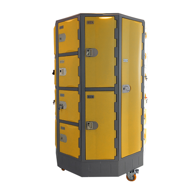 Heavy Duty Plastic Locker T-R385XXL/2: HDPE, Durable, Circular