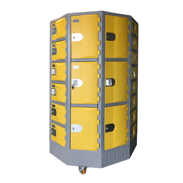 Heavy Duty Plastic Locker T-R385XXL/3: HDPE, Durable, Circular