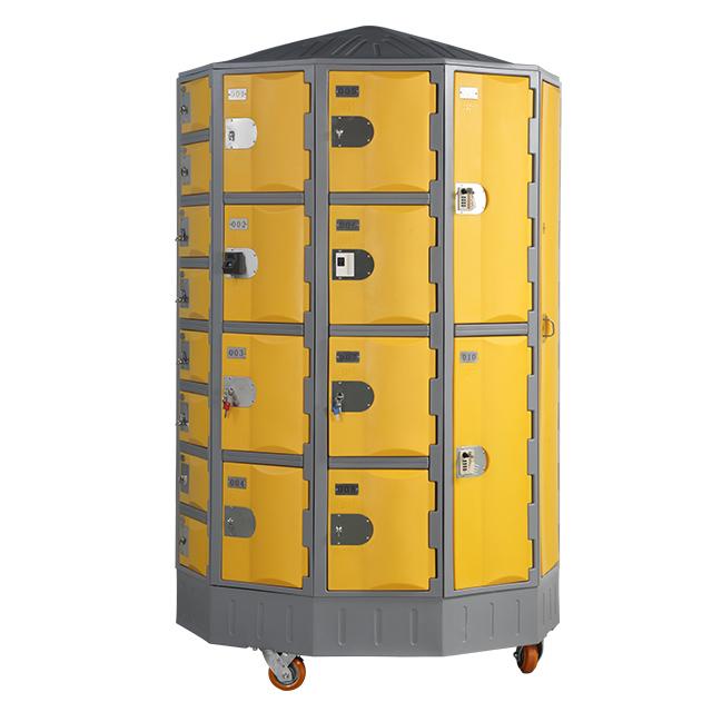 Heavy Duty Plastic Locker T-R385XXL/4: HDPE, Durable, Circular