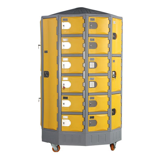 Heavy Duty Plastic Locker T-R385XXL/6: HDPE, Durable, Circular