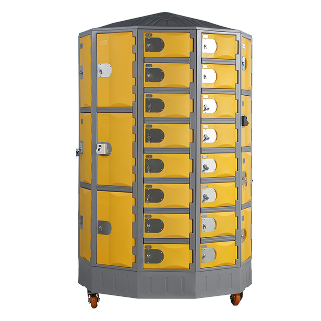 Heavy Duty Plastic Locker T-R385XXL/8: HDPE, Durable, Circular
