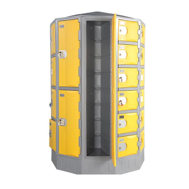 Heavy Duty Plastic Locker T-R385XXL: HDPE, Durable, Round