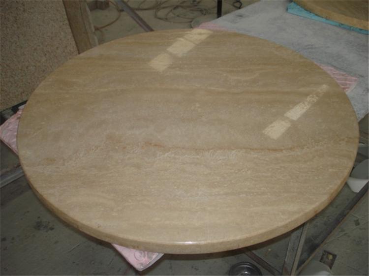 Beige Travertine Table Top Supplier Round Travertine