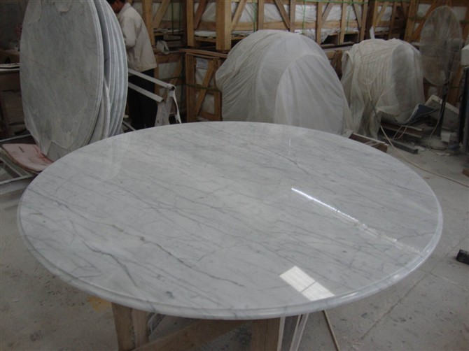 Carrara White Marble Table Top Factory Supplier China