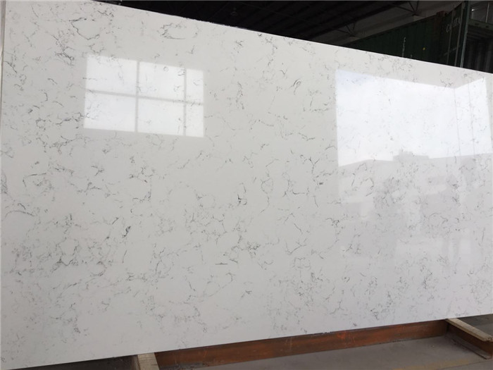 Carrara White Quartz Countertop Engineered