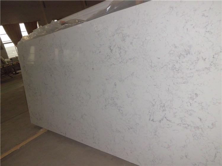 Volakas White Engineered Quartz Slab Factory Vein Quartz