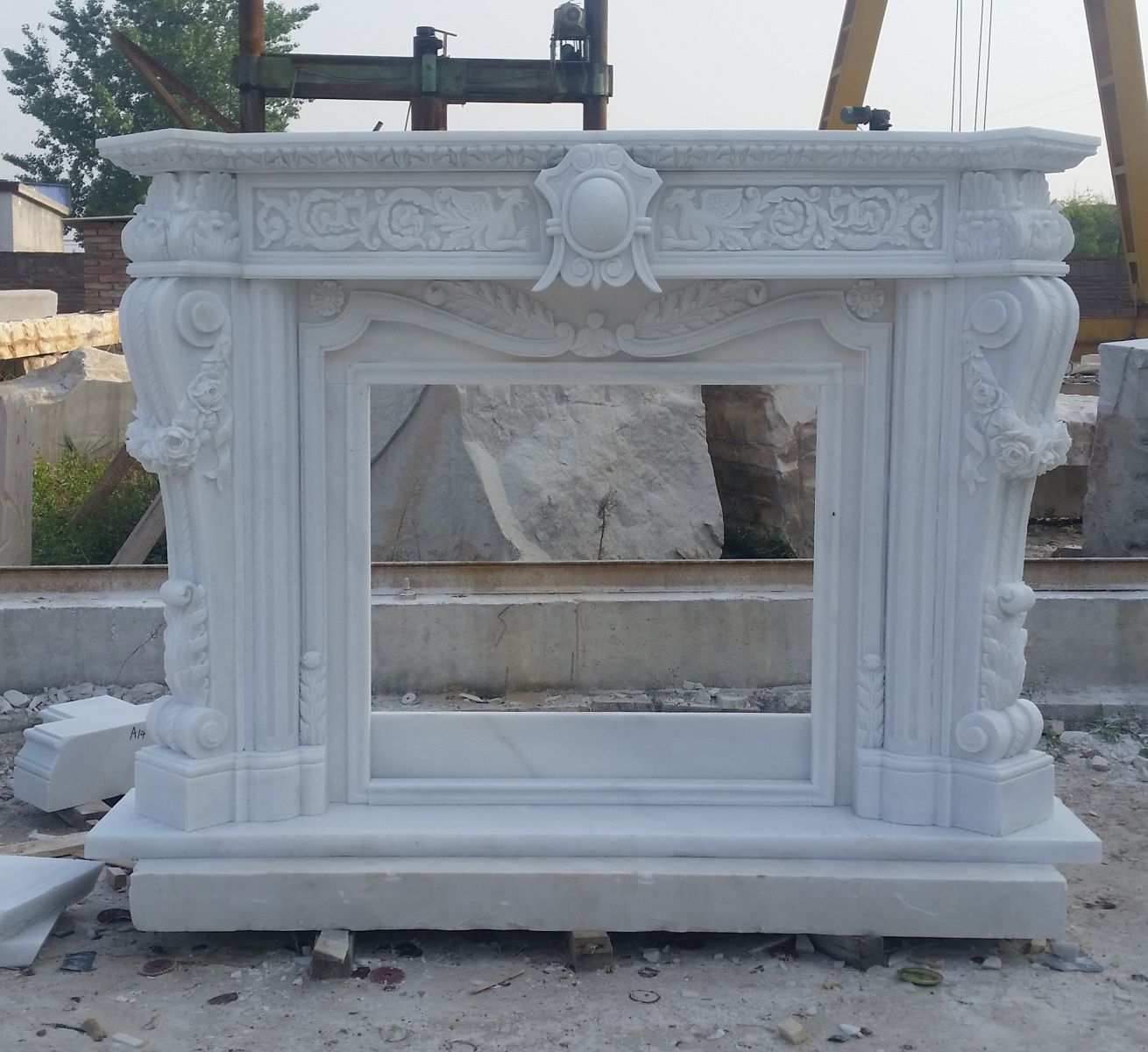 Custom White Marble Mantel Surrounds Hangmao