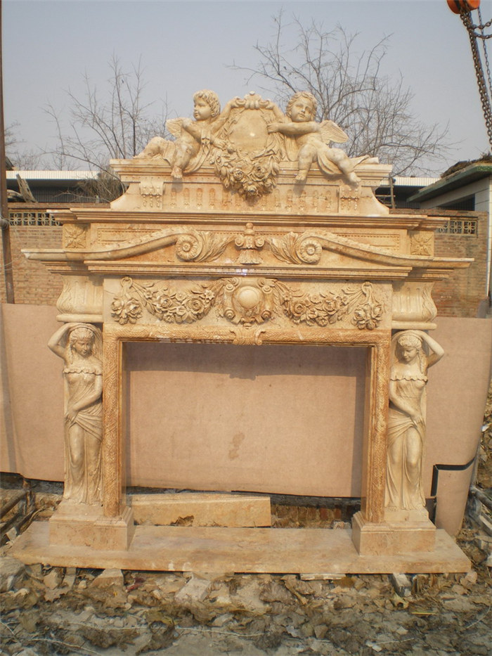 Double Sided Marble Fireplace Manufacturer Supplier China