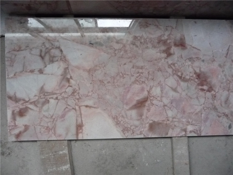 Chinese Rose Pink Cream Marble Wall Floor Tiles Slabs