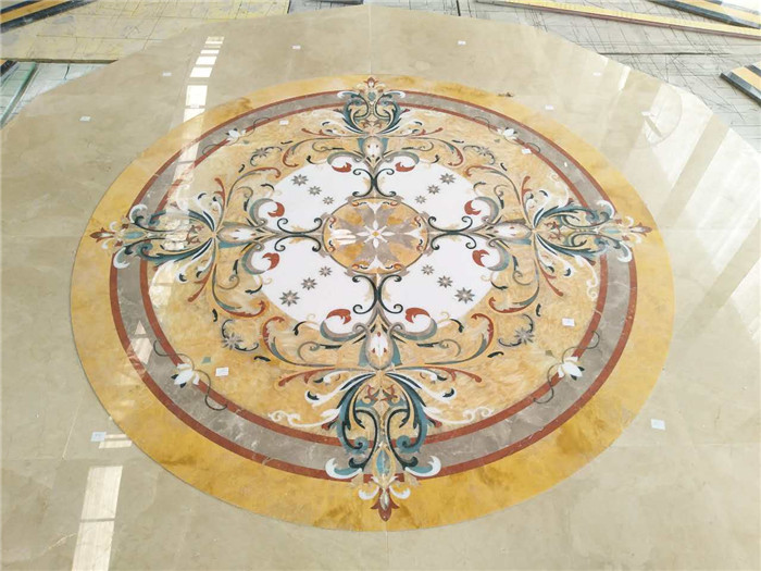 Marble Inlay Flooring Designs Tile Medallion Patterns