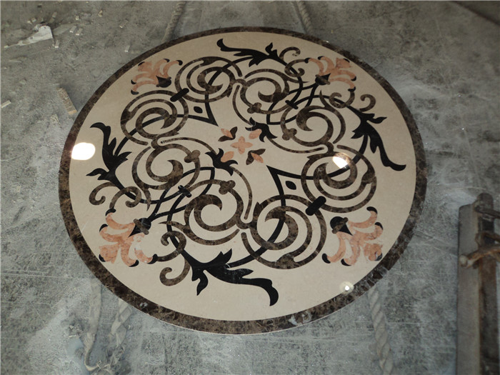Round Entryway Tile Medallions Water Jet Marble Medallion