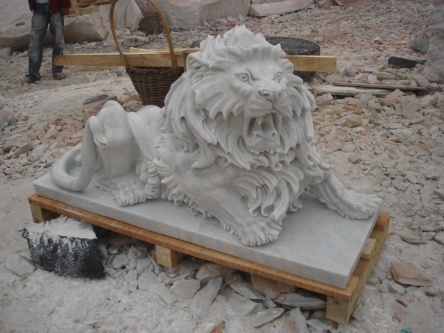 Life Size Stone Lion Statue Chinese Marble Lion Statues