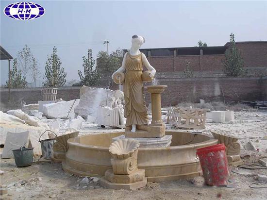 Marble Garden Water Fountain, Outdoor Stone Fountain