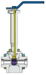 3件式低温球阀,1/2英寸,800级,浮球